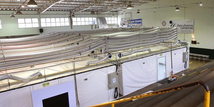 O Hospital de Campanha na sede dos Patrulheiros terá capacidade para 36 leitos. Foto: Arquivo