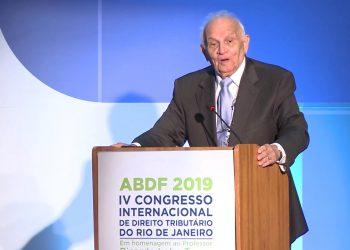 O advogado Agostinho Toffoli Tavolaro durante o IV Congresso Internacional de Direito Tributário, no Rio de Janeiro, em 2019 Foto: Divulgação