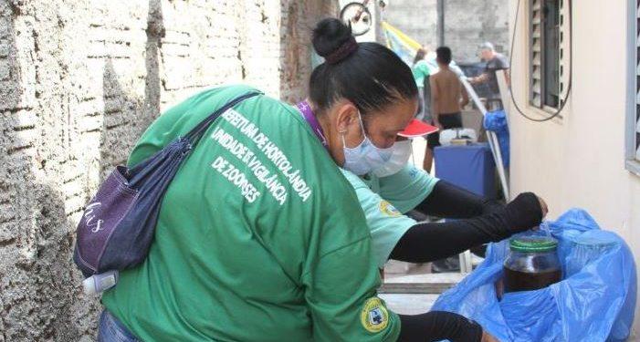 Agentes visitam casa à procura de criadouros do Aedes Aegypti - Foto: Divulgação/Prefeitura de Hortolândia