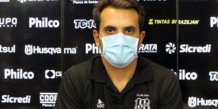 O coordenador médico da Ponte Preta, Felipe Abreu, elogiou os novos protocolos do clube. Foto: Ponte Press/Diego Almeida