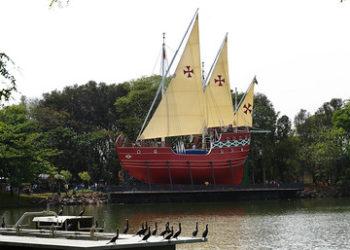 A aula on-line terá como palco a caravela, cartão-postal da lagoa do taquaral. Foto: Divulgação