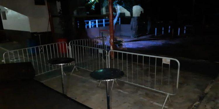 Espaço do chácara no Jardim Novo Sol, que estava sendo preparado para um festa clandestina e foi fechado pela  GM. Foto: Dibvulgação