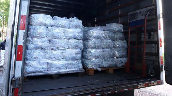 Doações de cestas básicas para a campanha Campinas sem Fome entregues na Prefeitura -  Foto: Fernanda Sunega/Divulgação PMC
