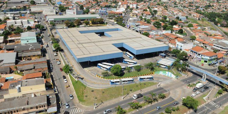Vista aérea da região do Terminal Ouro Verde, em Campinas. Foto: Carlos Bassan/PMC