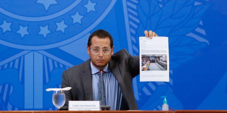 (Brasília - DF, 03/06/2020) Secretário Especial de Comunicação Social da Presidência da República, Fábio Wajngarten. Foto: Anderson Riedel/PR