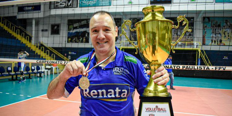 Horácio Dileo  comandou o Vôlei Renata em 161 partidas, com 93 vitórias. Foto: Divulgação