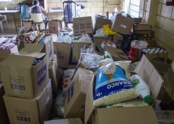 Alimentos arrecadados pela Oficina foram entregues à Casa da Sopa. Foto: Divulgação