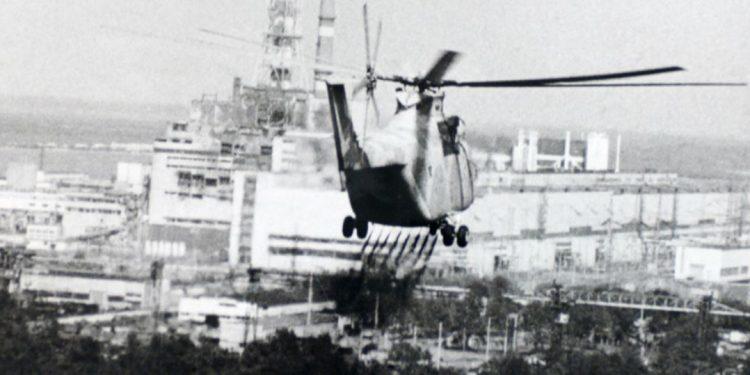 Imagem de helicóptero sobrevoando o local da tragédia - Foto: ONU/ Aiea