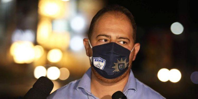 Christiano Biggi, secretário municipal de Segurança Pública, durante ação fiscalizatória do Toque de Recolher Foto Prefeitura/Divulgação