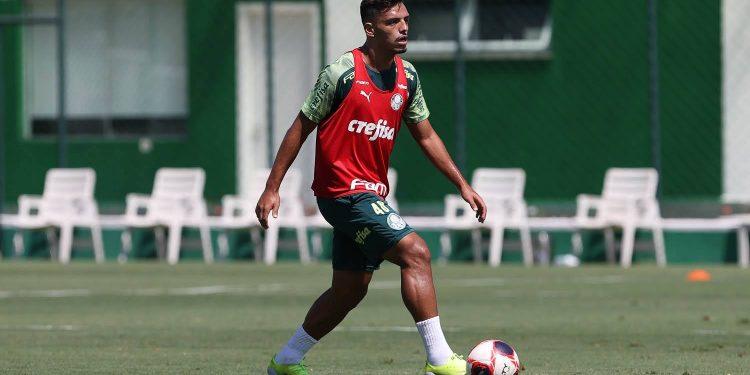 O jogador Gabriel Menino - Foto:Cesar Greco - Divulgação Palmeiras