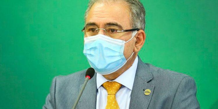 O ministro da Saúde, Marcelo Queiroga durante anúncio de medidas contra a Covid-19: Marcelo Camargo/ Agência Brasil