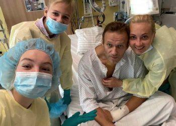 Alexei Navalny no hospital onde recebe cuidados depois do período em que esteve em greve de fome. Foto: Divulgação