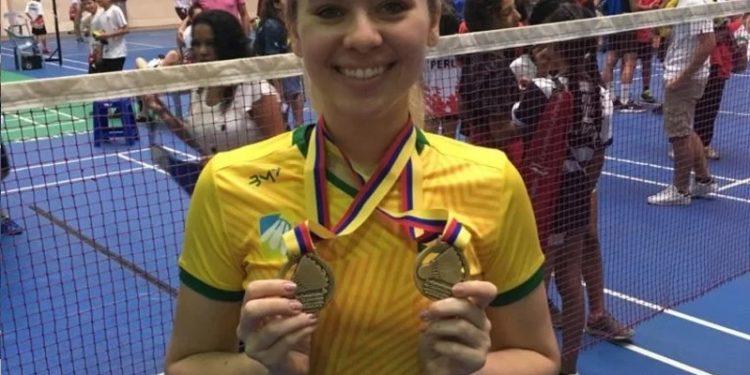 A atleta de badminton Bianca Lima - Foto: Divulgação