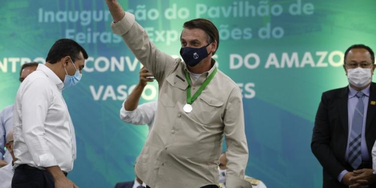 Presidente Jair Bolsonaro, que participou de evento de distribuição de cestas básicas em Belém. Foto; Divulgação \ AB