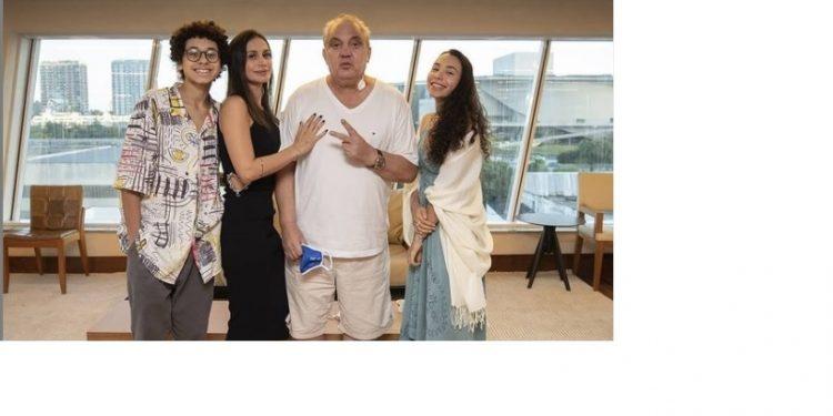 Branco festejou o aniversário com a família um dia após deixar o hospital. Foto: Instagram