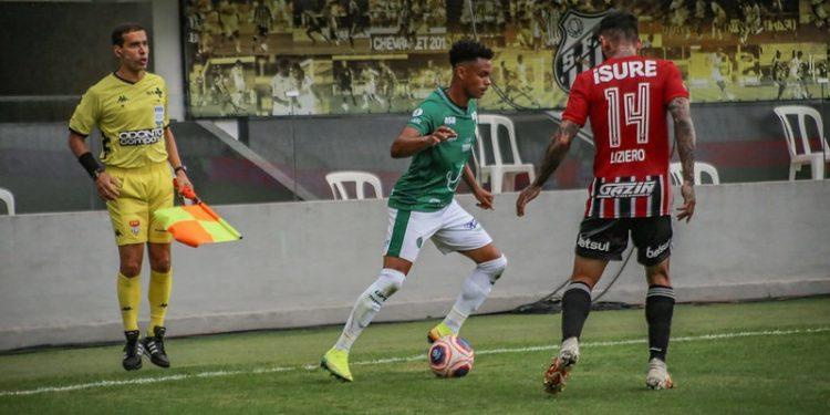No último confronto entre Guarani e São Paulo, na Vila Belmiro, em 2020, o Guarani saiu derrotado por 3 a 1. Foto: David Oliveira/Guarani FC