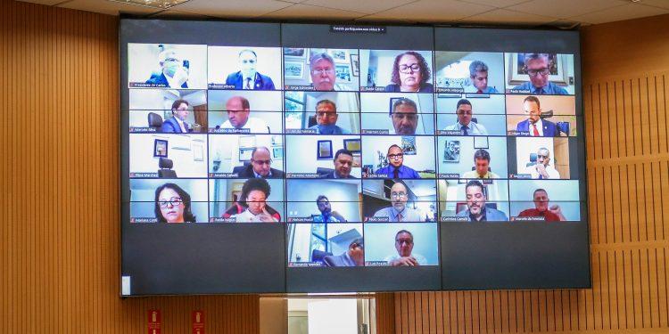 Vereadores de Campinas em sessão de deliberação remota: projeto ainda passará por mais uma votação. Foto: Divulgação\CMC