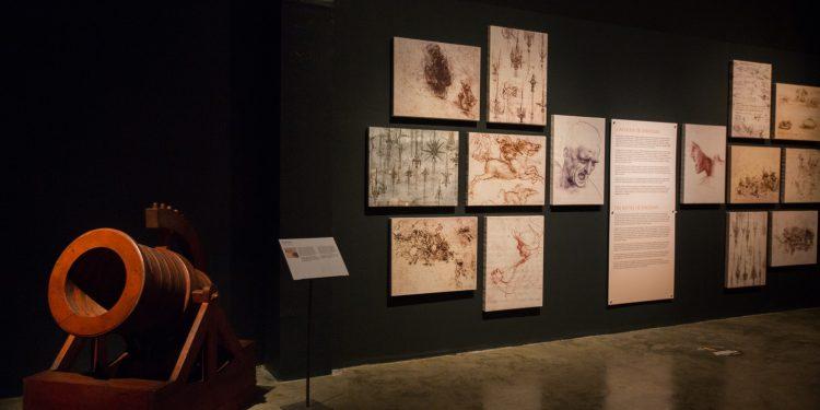 Vários eventos culturais estão abertos ao público até o dia 30 de abril, como a Mostra sobre a obra de Da Vinci. Foto: Divulgação
