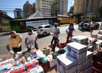 Campanha Campinas contra a fome distribui alimentos para quase 14 mil famílias, segunda a prefeitura. Foto: Divulgação \ PMC