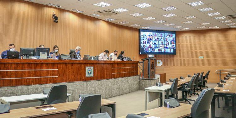 Plenário da Câmara de Campinas: representação de um grupo no MP, quer apurar a conduta de três parlamentares. Foto: Divulgação \ CMC