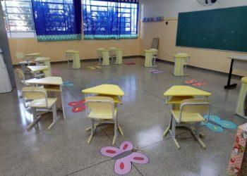 Sala de aula da Educação Infantil de Vinhedo, que continuará com esquema de revezamento.. Foto: Divulgação