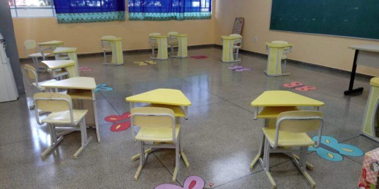 Sala de aula da Educação Infantil de Vinhedo, que volta com atividades presenciais no dia 3 de maio. Foto: Divulgação