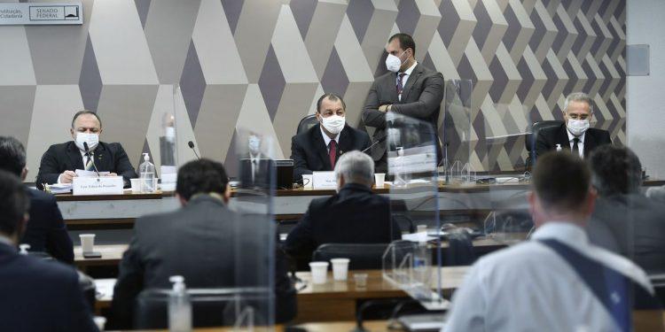 """Pazuello avaliou que """"nunca se investiu tanto em saúde no Brasil. Foto: Edilson Rodrigues/Agência Senado"""