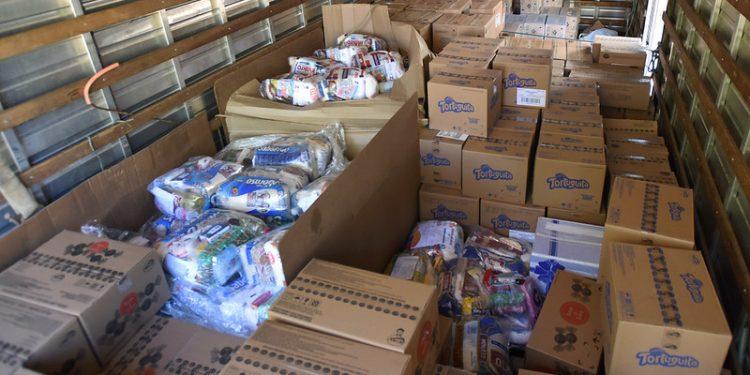 A BYD doou ao estado mil cestas e pediu que 700 fossem entregues em Campinas. Foto: Carlos Bassan/PMC