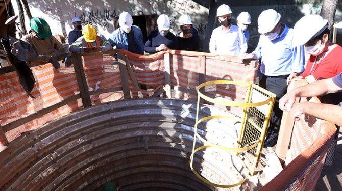 Autoridades municipais durante visita às obras do CCC - Foto: Fernanda Sunega/Prefeitura de Campinas
