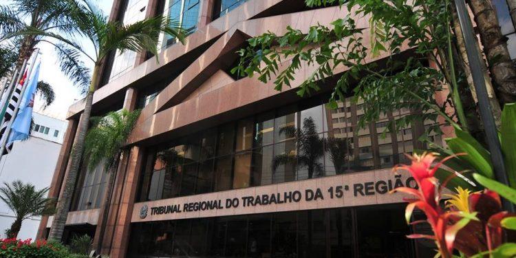 Prédio do TRT da 15ª Região: doação irá beneficiar alunos em vulnerabilidade social - Foto: Divulgação