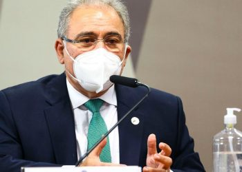 O ministro Marcelo Queiroga durante o evento on-line - Foto: Marcelo Camargo/Agência Brasil