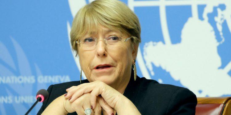 """A chilena Michelle Bachelet, alta comissária da ONU, que vê possíveis crimes de guerra no conflito: Israel aponta perseguição da Organização das Nações Unidas e Hamas fala em """"resistência legítima"""" Foto: Agência ONU"""