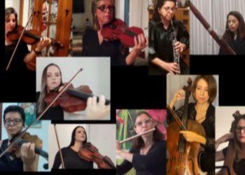 Musicistas da Sinfônica gravaram direto de suas casas - Foto: Divulgação