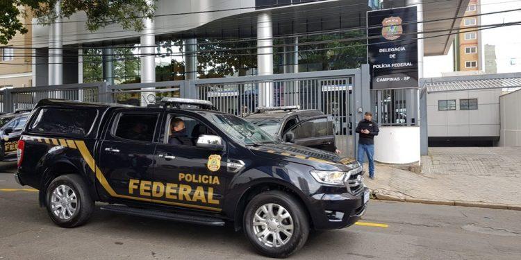 Sede da Polícia Federal de Campinas: estão sendo cumpridos cinco mandados de busca e apreensão expedidos pela 9ª Vara Federal de Campinas- Foto: Leandro Ferreira/Hora Campinas