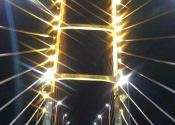 A Ponte de Esperança mostra a cor da campanha Maio Amarelo. Foto: Divulgação/PMH