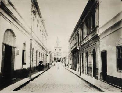 Rua Conceição, no início do século passado: ela já se chamou Formosa e Boaventura do Amaral Foto: Divulgação
