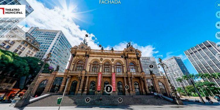 Além de ver o interior do prédio, o visitante sobrevoa a região central da cidade, passando pela Praça das Artes para conhecer o edifício Foto: Divulgação