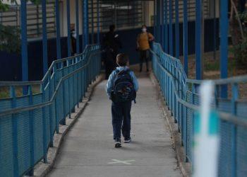 Os alunos do Ensino Fundamental da rede municipal completaram a primeira semana de aulas presenciais. Foto: Leandro Ferreira/Hora Campinas