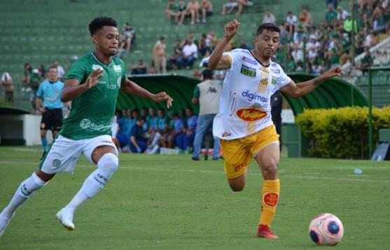 O último confronto entre Guarani e Novorizontino acabou empatado por 1 a 1. Foto: Thiago Carvalho/Novorizontino
