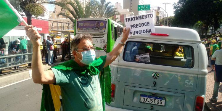 Manifestação em defesa do tratamento precoce, rechaçado pela ciência. Foto: Divulgação