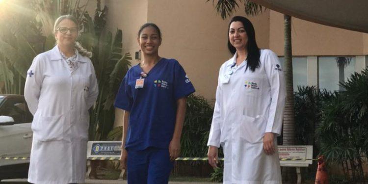 Andréia, Ananda e Viviane (da esq. para a dir.): profissionais cujo fôlego nunca se esgota. Foto: Divulgação