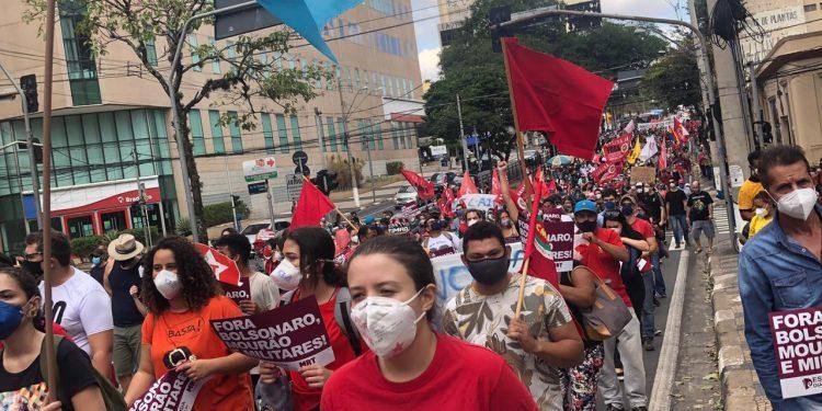 Os manifestantes percorreram as principais ruas do Centro, de forma pacífica. Foto: Divulgação