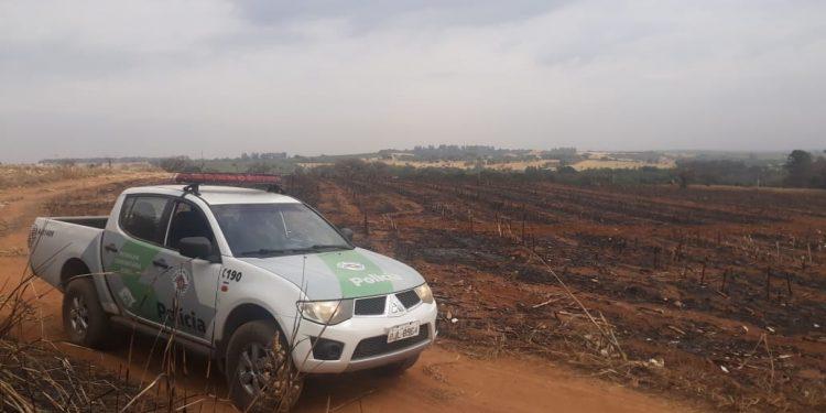 Área de 67 hectares que, segundo a Polícia Ambiental, foi consumida pelo fogo, em Jaguariúna. Foto: Divulgação \ PA
