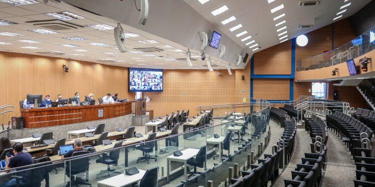 Sessão remota tealizada na Câmara de Campinas na manhã desta quarrta-feira. Foto. Divulgação \CMC