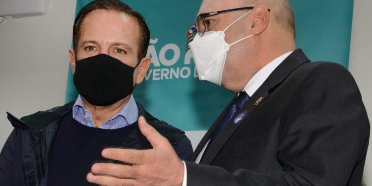 O governador João Doaria (esq.) e o prefeito Dário Saadi, hoje pela manhã em Campinas. Foto: Divulgação \ PMC