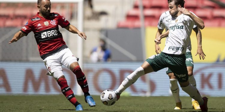 Na final da Supercopa, o Flamengo levou a melhor em cima do Palmeiras. Foto: Arquivo