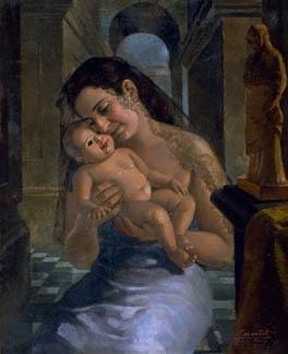 O quadro Maternidade, obra-prima de Gerson Pompeu Pinheiro Foto: Divulgação
