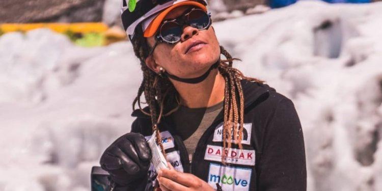 A montanhista campineira e torcedora da Ponte Preta Aretha Duarte, de 37 anos, fez história. Foto: Divulgação