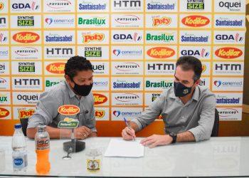 O técnico Léo Condé acertou renovação de contrato com o Novorizontino até o final do Campeonato Paulista de 2022. Foto: Divulgação