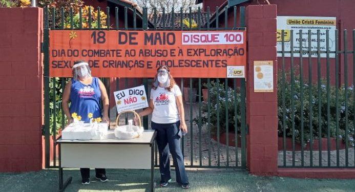 Voluntários em campanha de conscientização no dia contra a exploração sexual de crianças e adolescentes. Foto: Divulgação